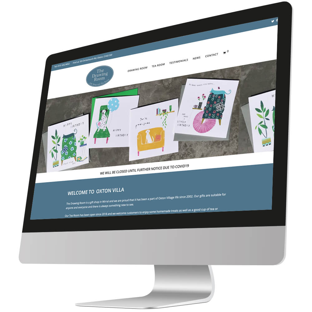 front page of drawing room oxton website