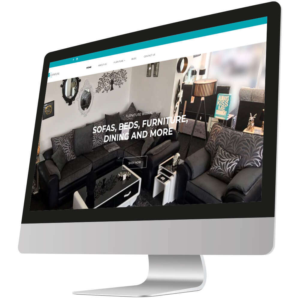 front page of furniture wirral website