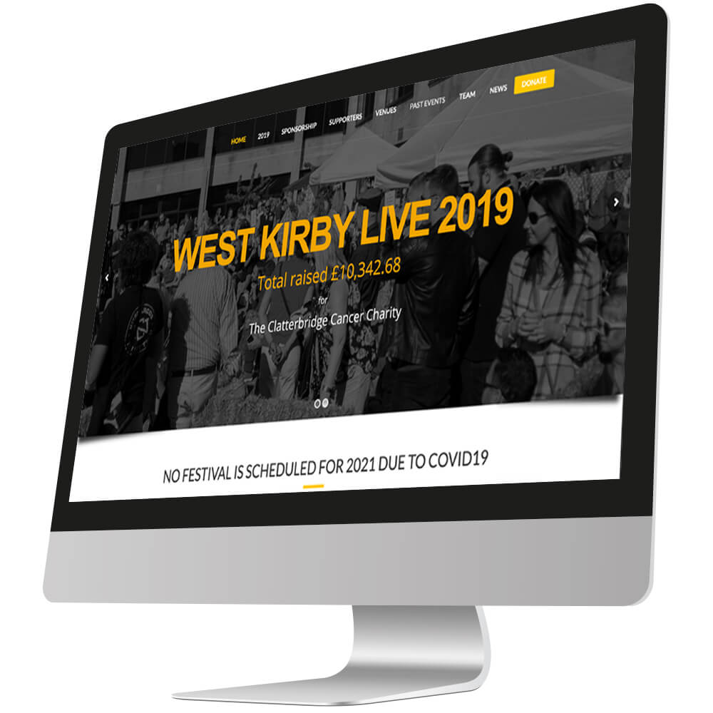 front page of west kirby live website